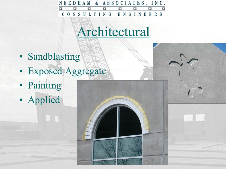 Architectural Sandblasting Exposed Aggregate Painting Applied