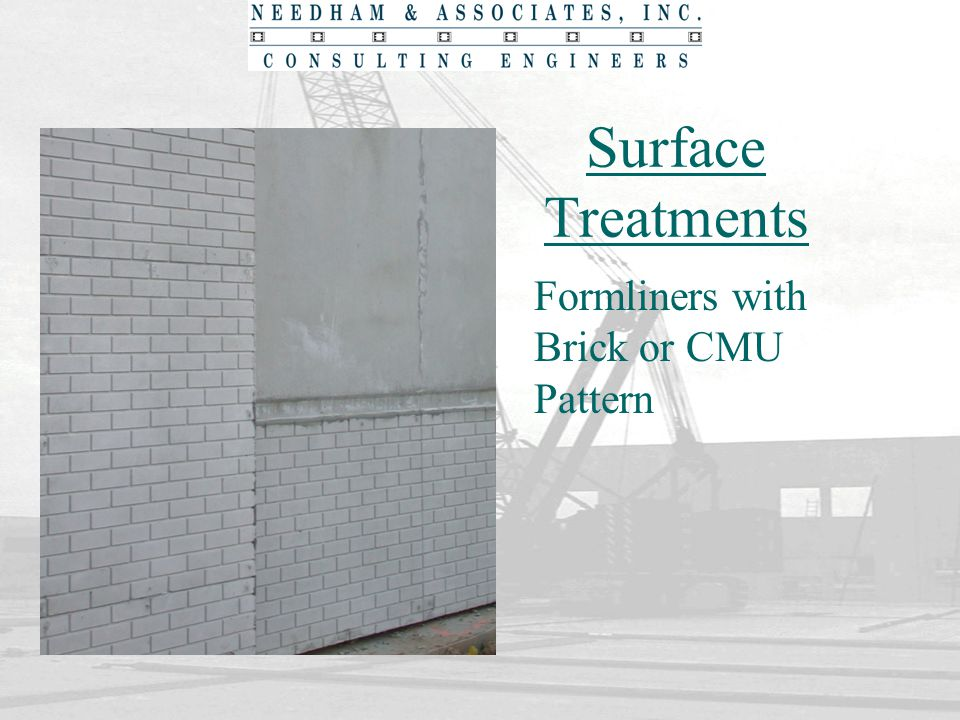 Surface Treatments Formliners with Brick or CMU Pattern
