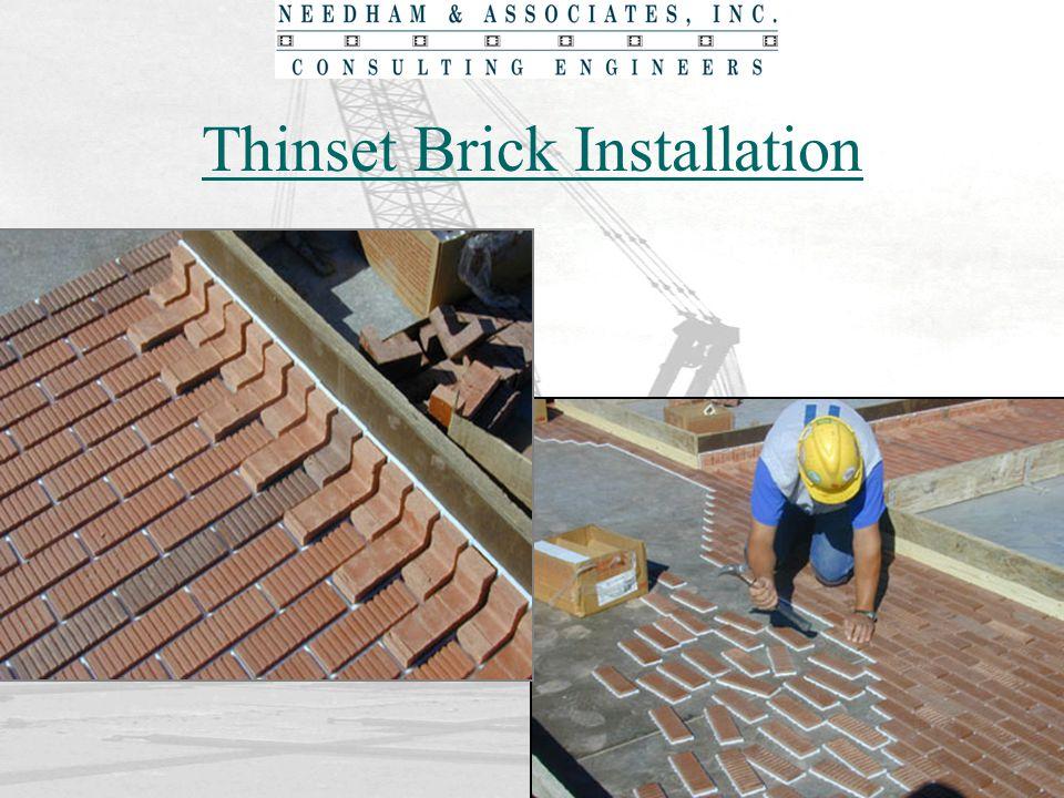 Thinset Brick Installation
