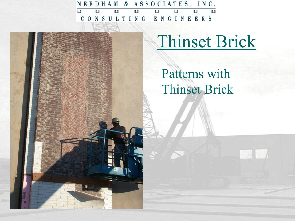 Thinset Brick Patterns with Thinset Brick