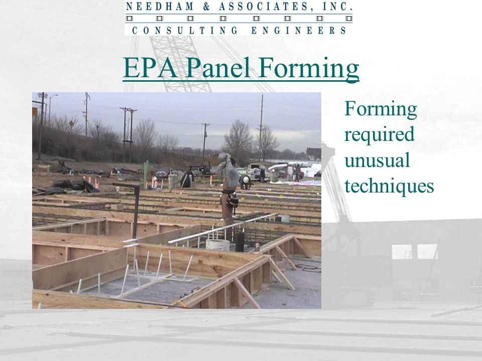 EPA Panel Forming Forming required unusual techniques