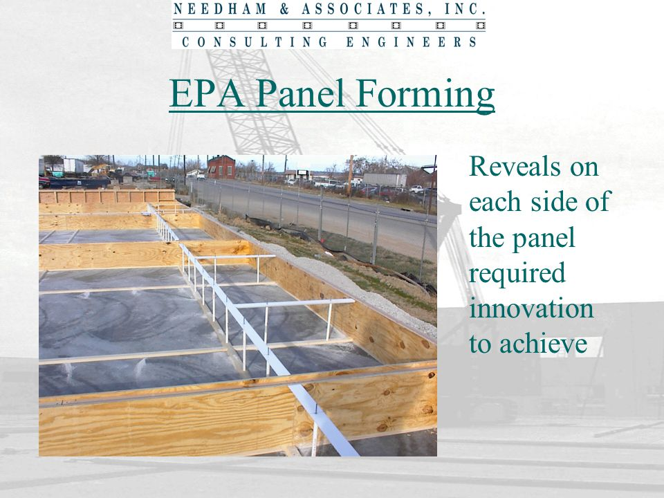 EPA Panel Forming Reveals on each side of the panel required innovation to achieve