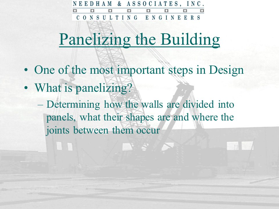 Panelizing the Building