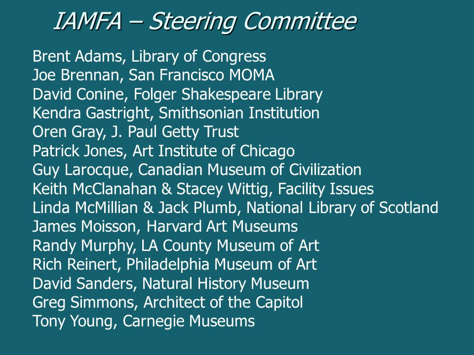 IAMFA – Steering Committee