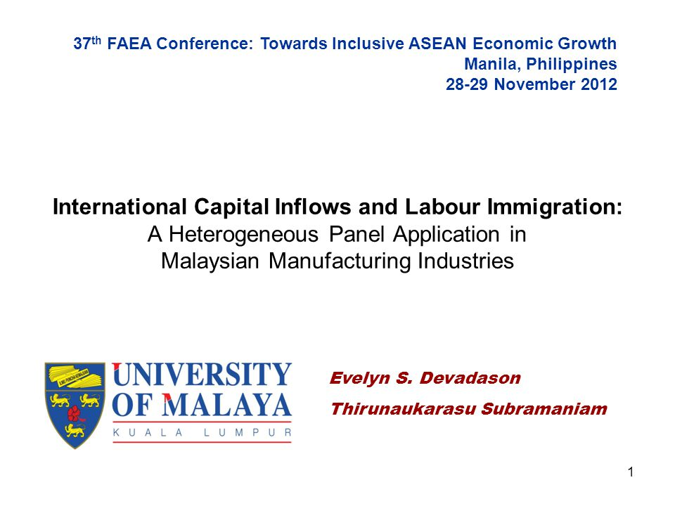 37th FAEA Conference: Towards Inclusive ASEAN Economic Growth