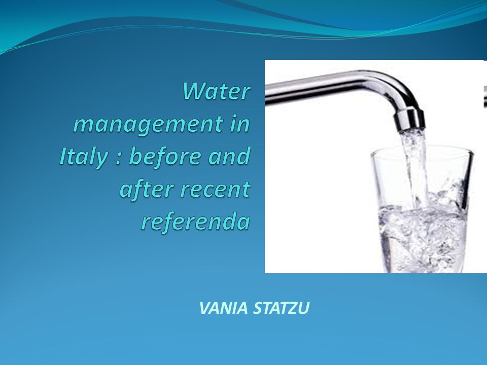 Water management in Italy : before and after recent referenda