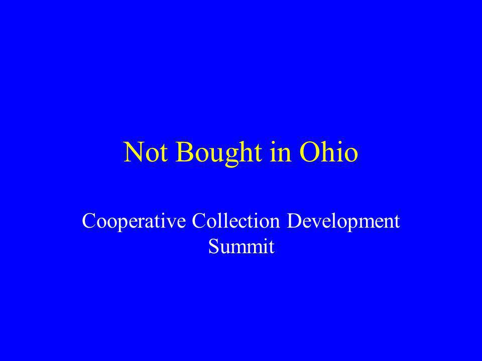 Cooperative Collection Development Summit