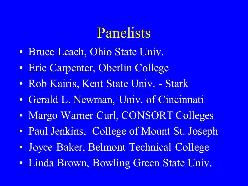 Panelists Bruce Leach, Ohio State Univ.