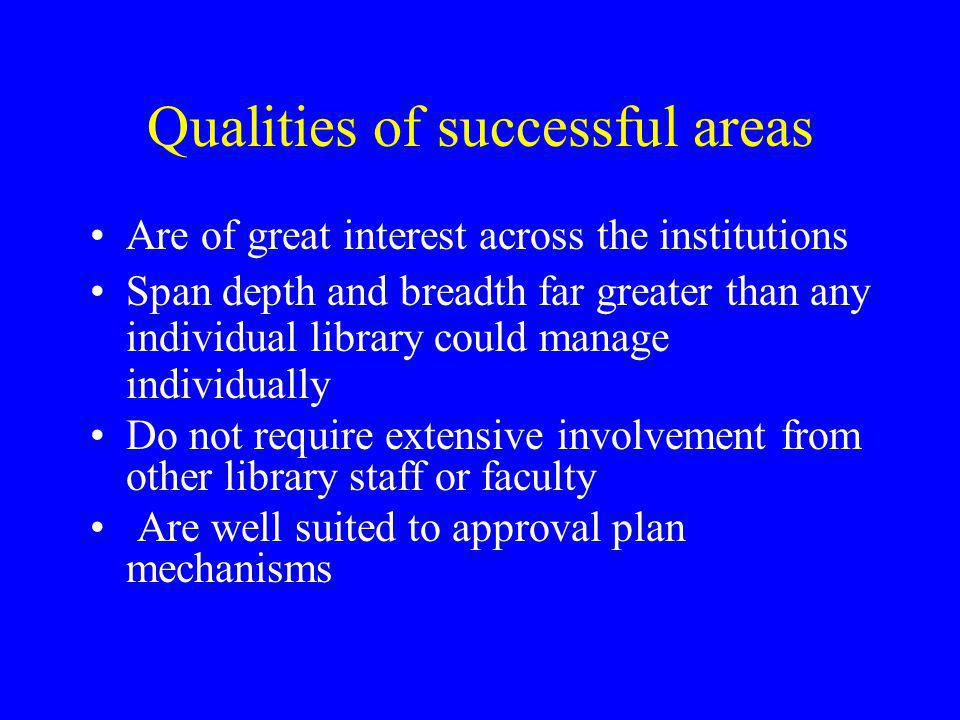 Qualities of successful areas