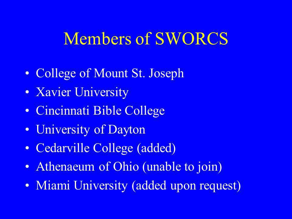 Members of SWORCS College of Mount St. Joseph Xavier University