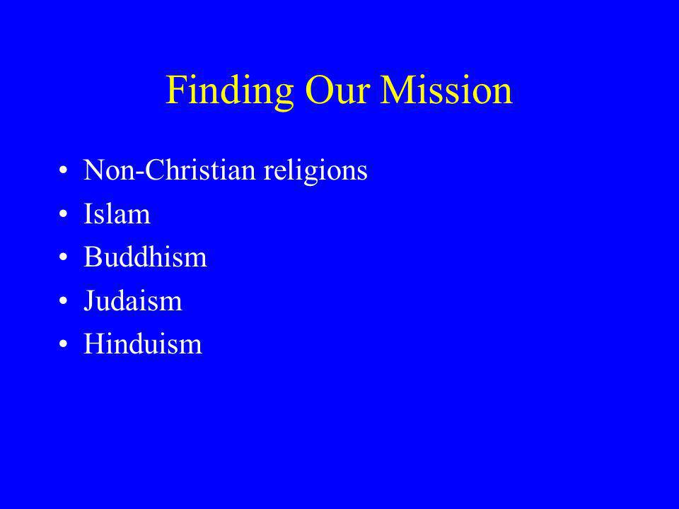 Finding Our Mission Non-Christian religions Islam Buddhism Judaism