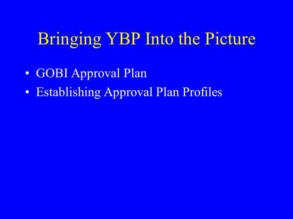 Bringing YBP Into the Picture