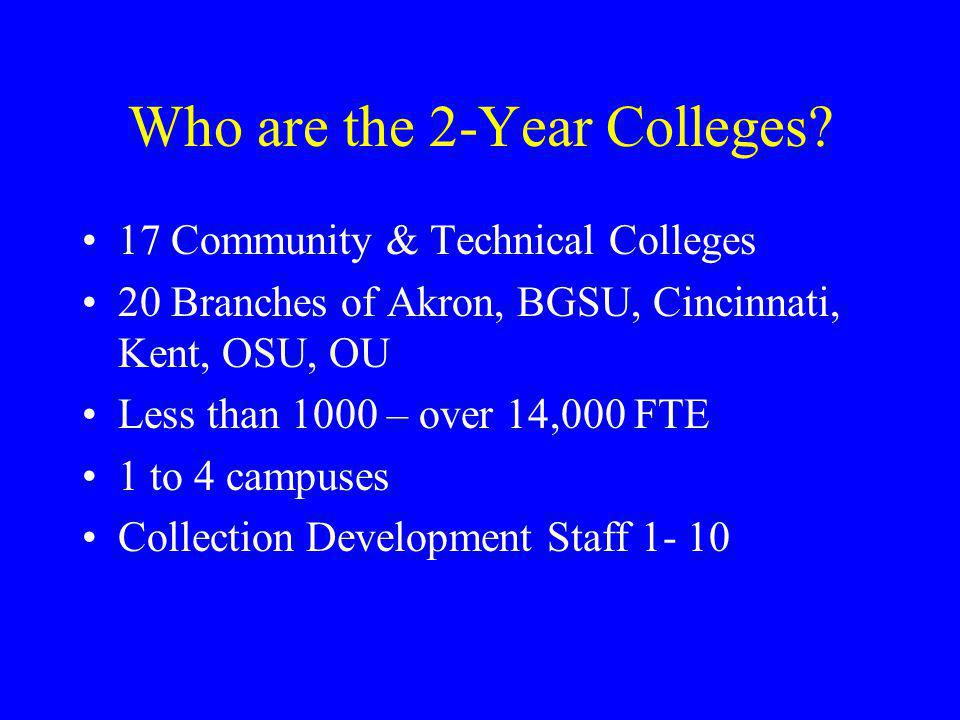 Who are the 2-Year Colleges