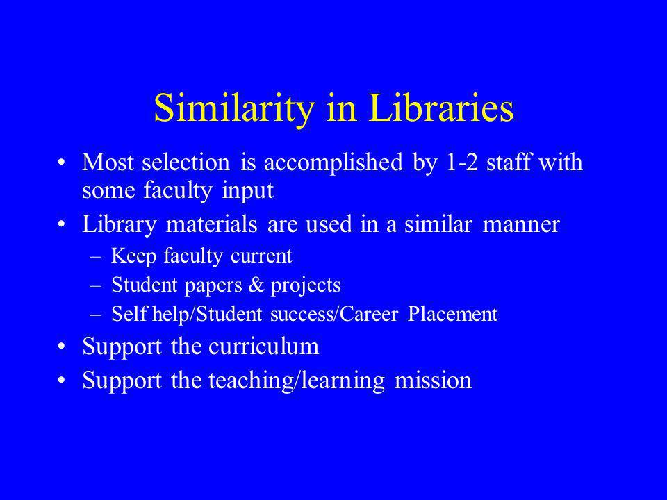 Similarity in Libraries