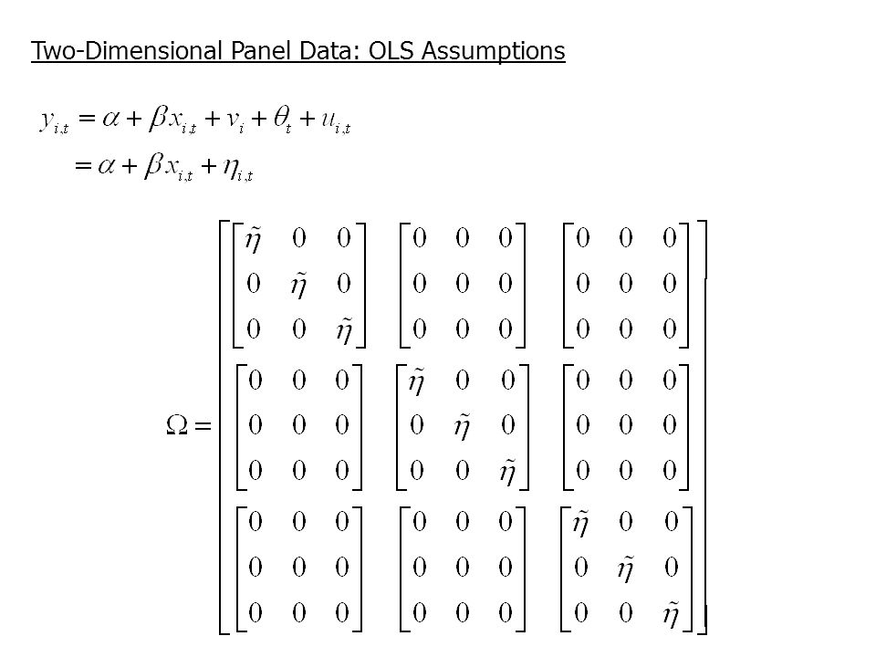 Two-Dimensional Panel Data: OLS Assumptions