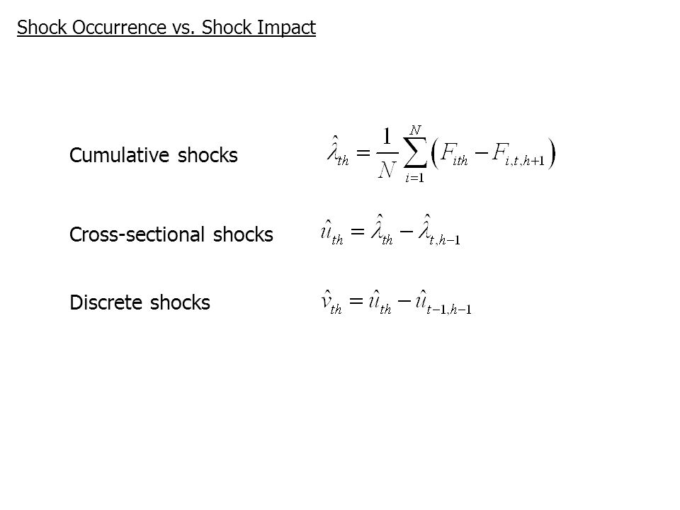 Cross-sectional shocks