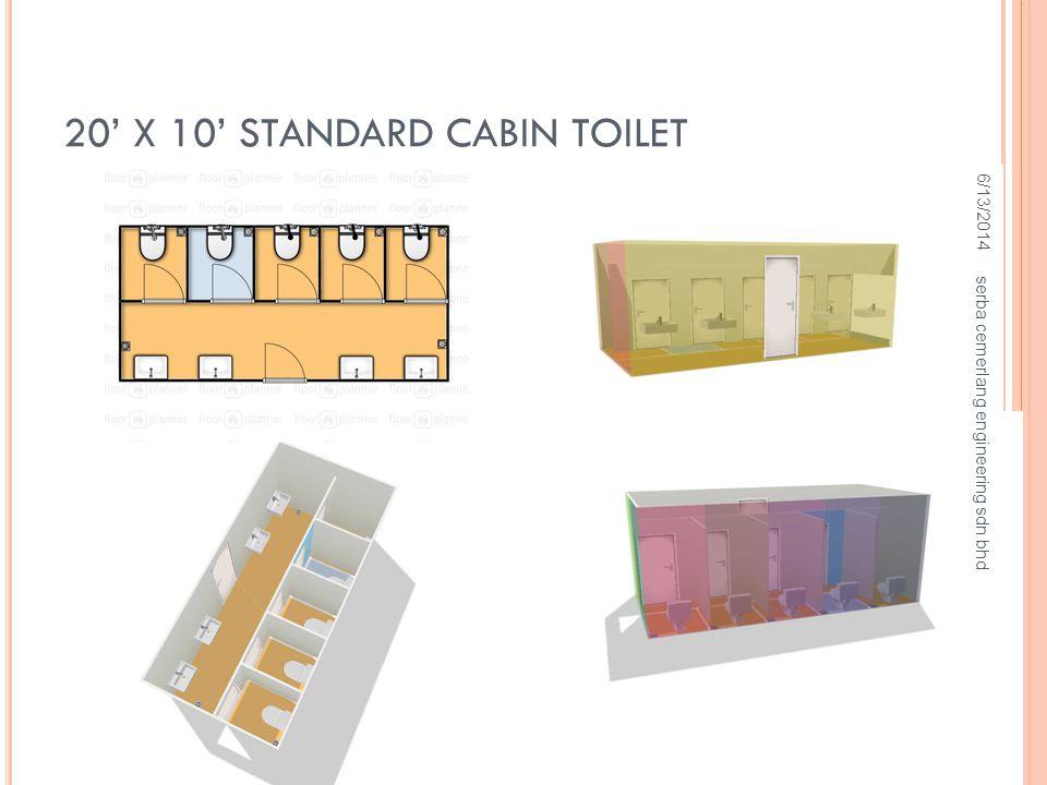 20' X 10' STANDARD CABIN TOILET