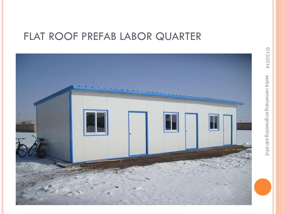 Flat Roof Prefab Labor Quarter