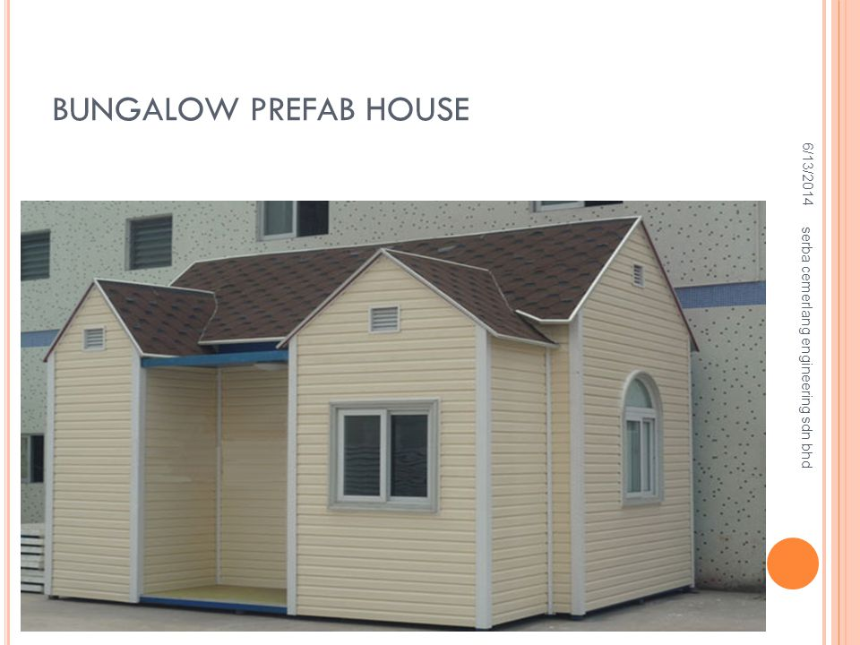 BUNGALOW PREFAB HOUSE 4/2/2017 serba cemerlang engineering sdn bhd