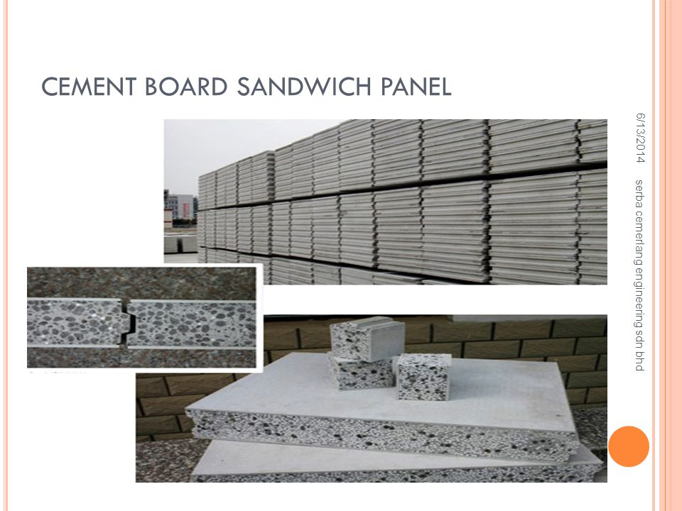 CEMENT BOARD SANDWICH PANEL