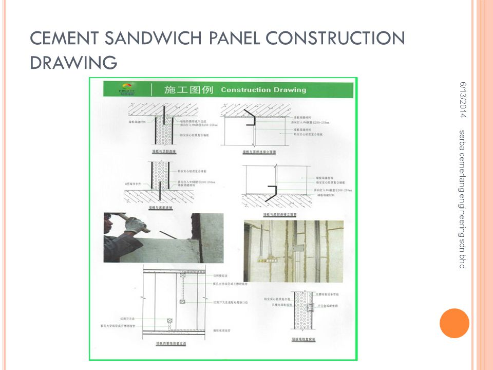 CEMENT SANDWICH PANEL CONSTRUCTION DRAWING
