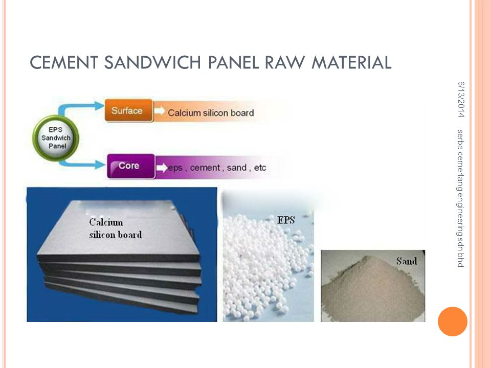 CEMENT SANDWICH PANEL RAW MATERIAL