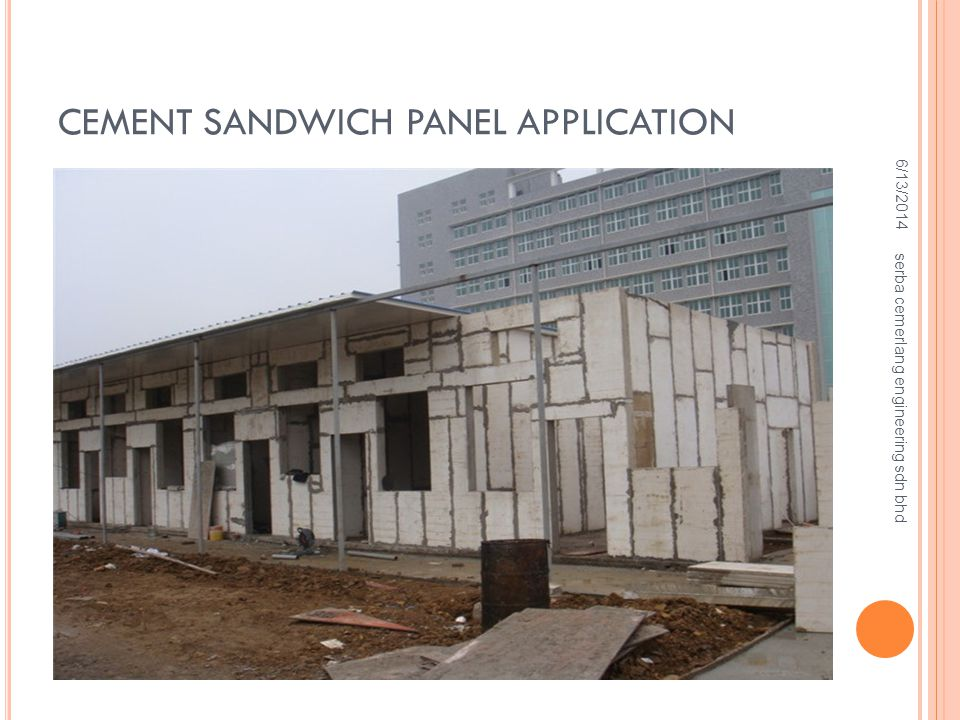CEMENT SANDWICH PANEL APPLICATION