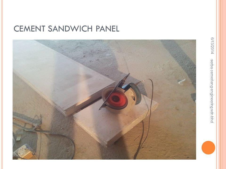 CEMENT SANDWICH PANEL 4/2/2017 serba cemerlang engineering sdn bhd