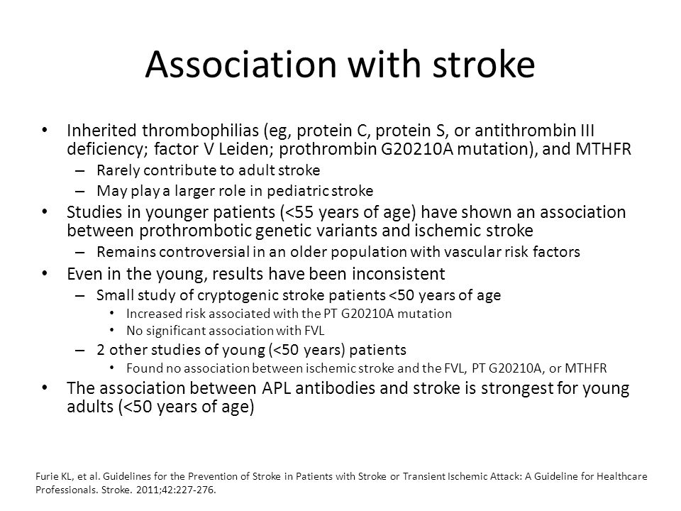Association with stroke