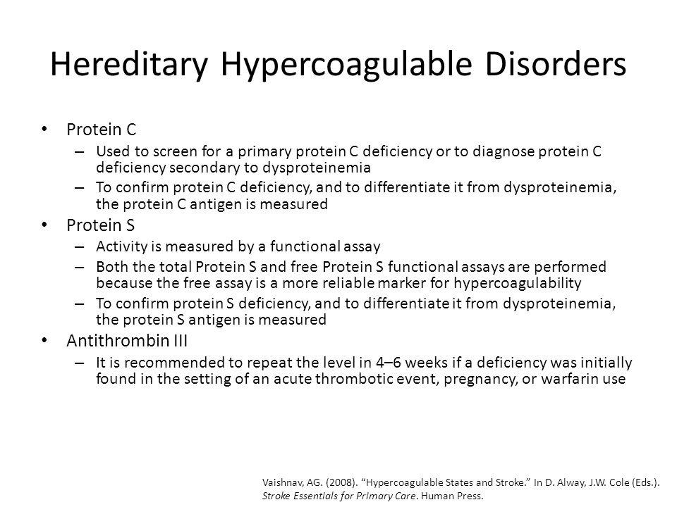 Hereditary Hypercoagulable Disorders