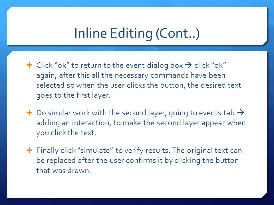 Inline Editing (Cont..)