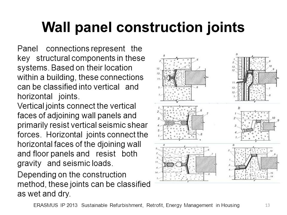 Wall panel construction joints