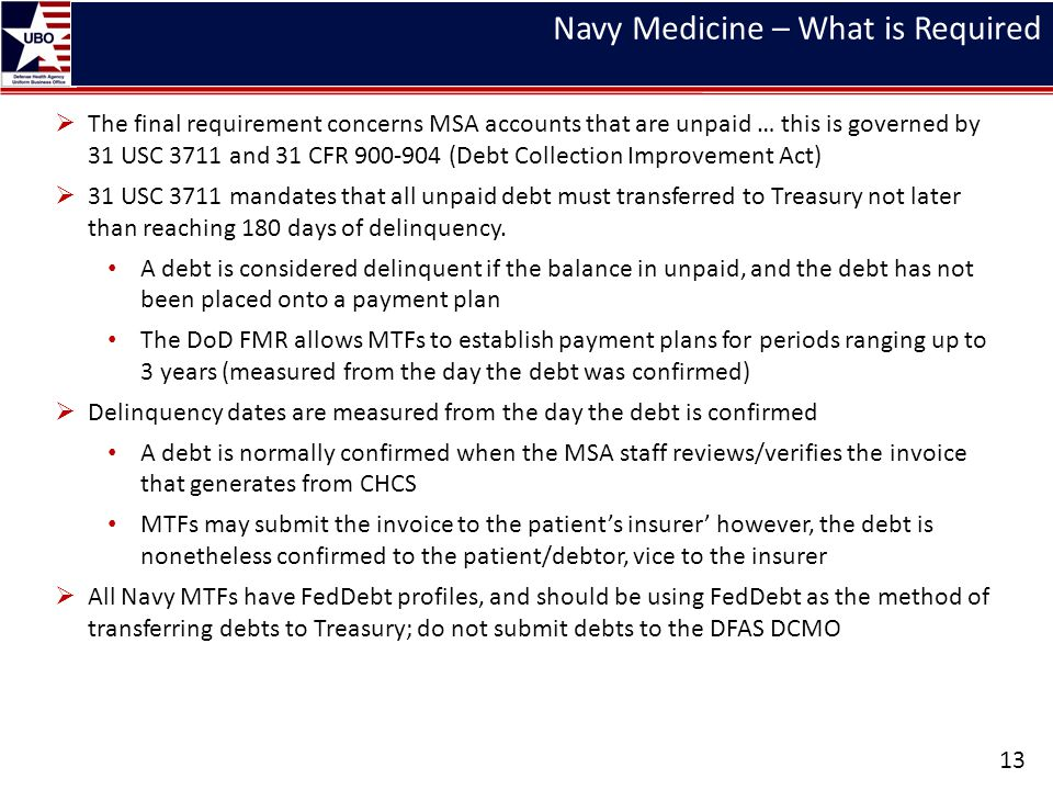Navy Medicine – What is Required