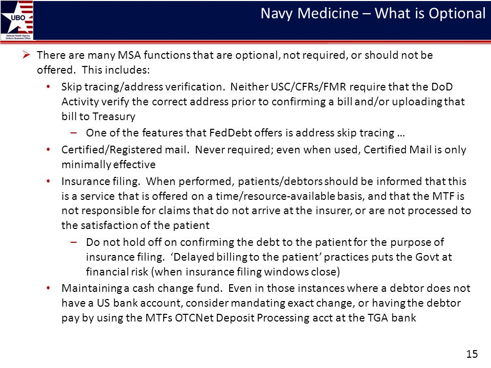 Navy Medicine – What is Optional