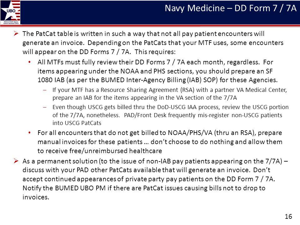 Navy Medicine – DD Form 7 / 7A