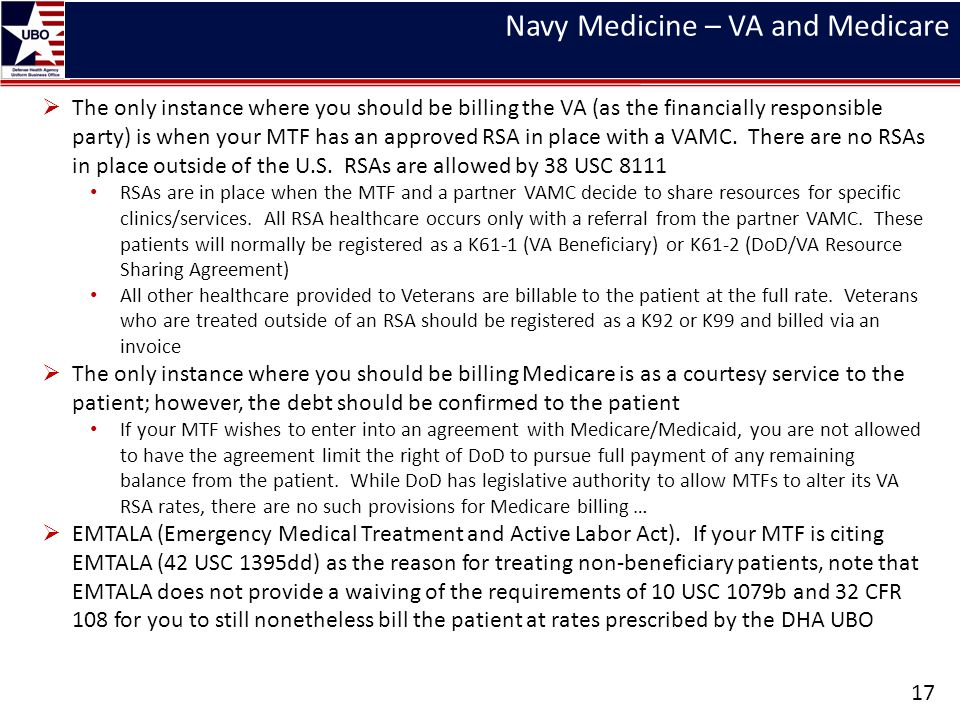 Navy Medicine – VA and Medicare