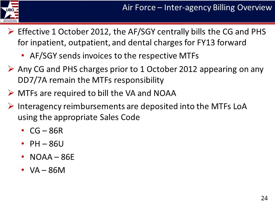 Air Force – Inter-agency Billing Overview