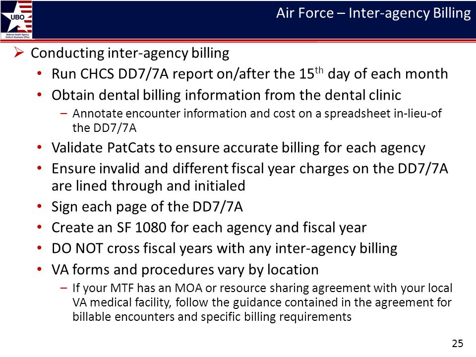 Air Force – Inter-agency Billing