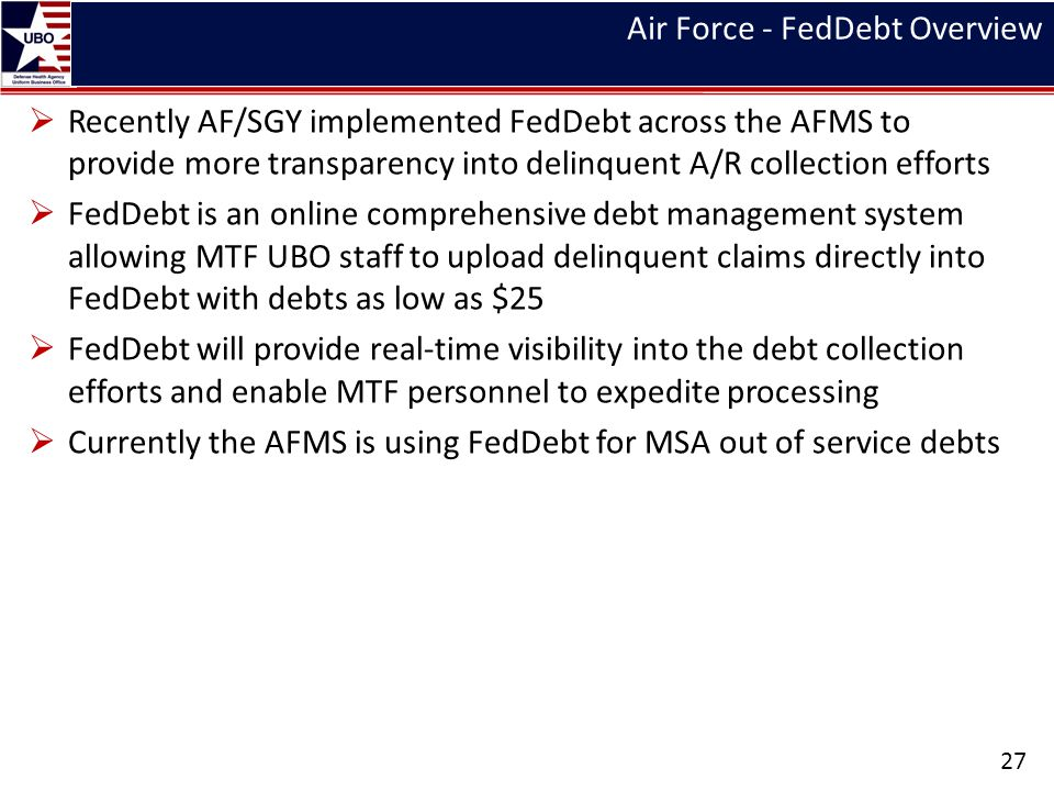 Air Force - FedDebt Overview
