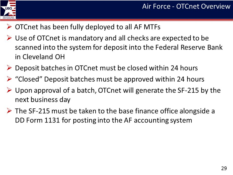 Air Force - OTCnet Overview