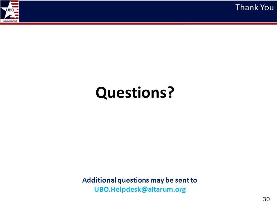 Additional questions may be sent to UBO.Helpdesk@altarum.org