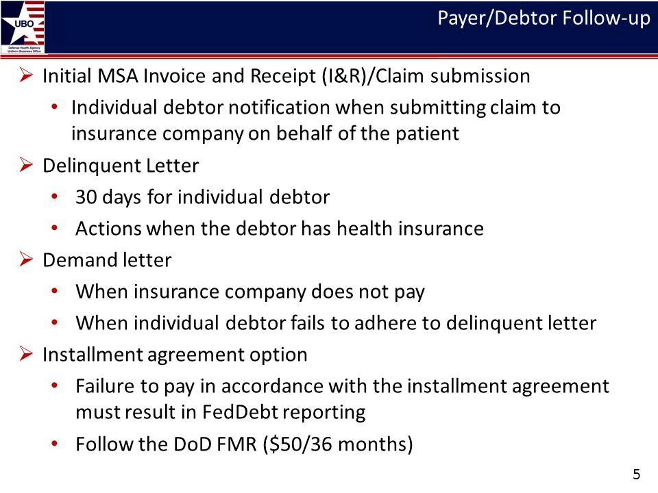 Payer/Debtor Follow-up