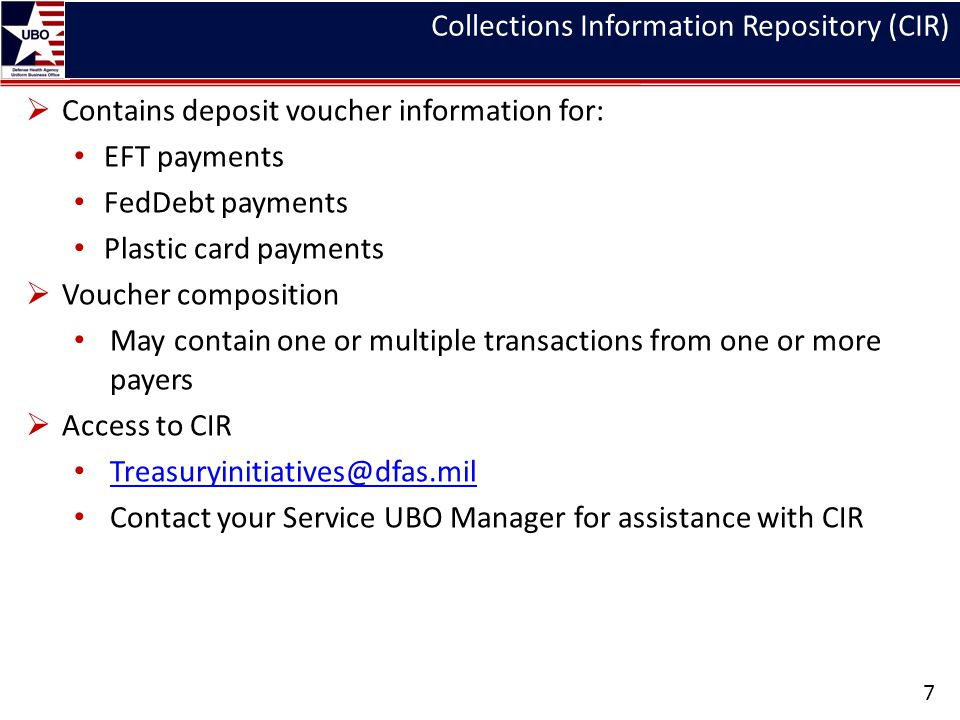 Collections Information Repository (CIR)