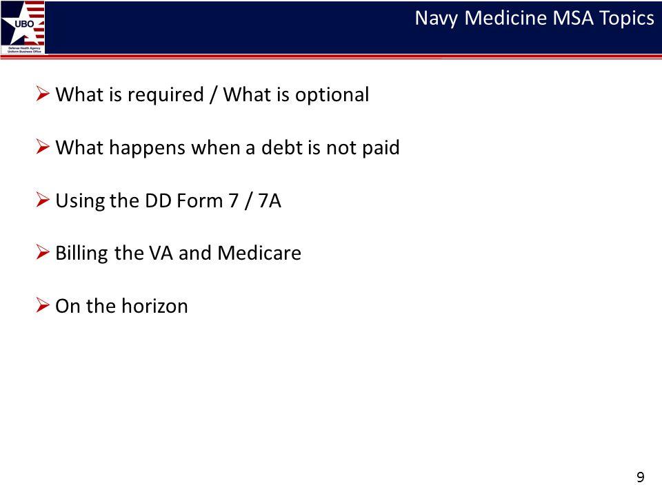 Navy Medicine MSA Topics