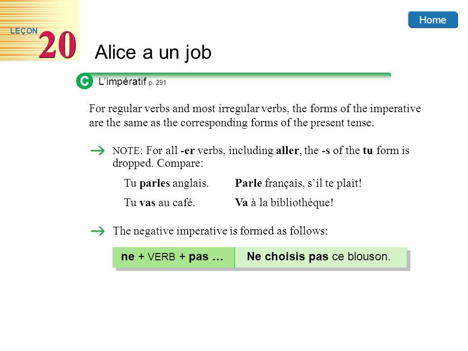 C L'impératif p. 291.