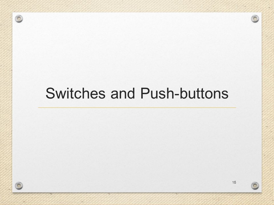 Switches and Push-buttons