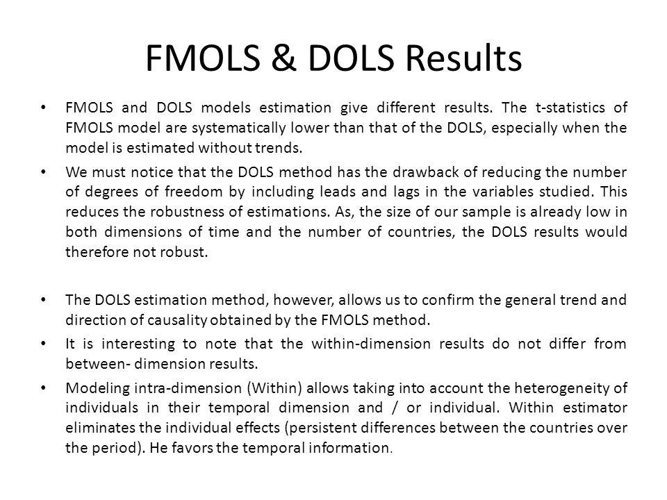 FMOLS & DOLS Results