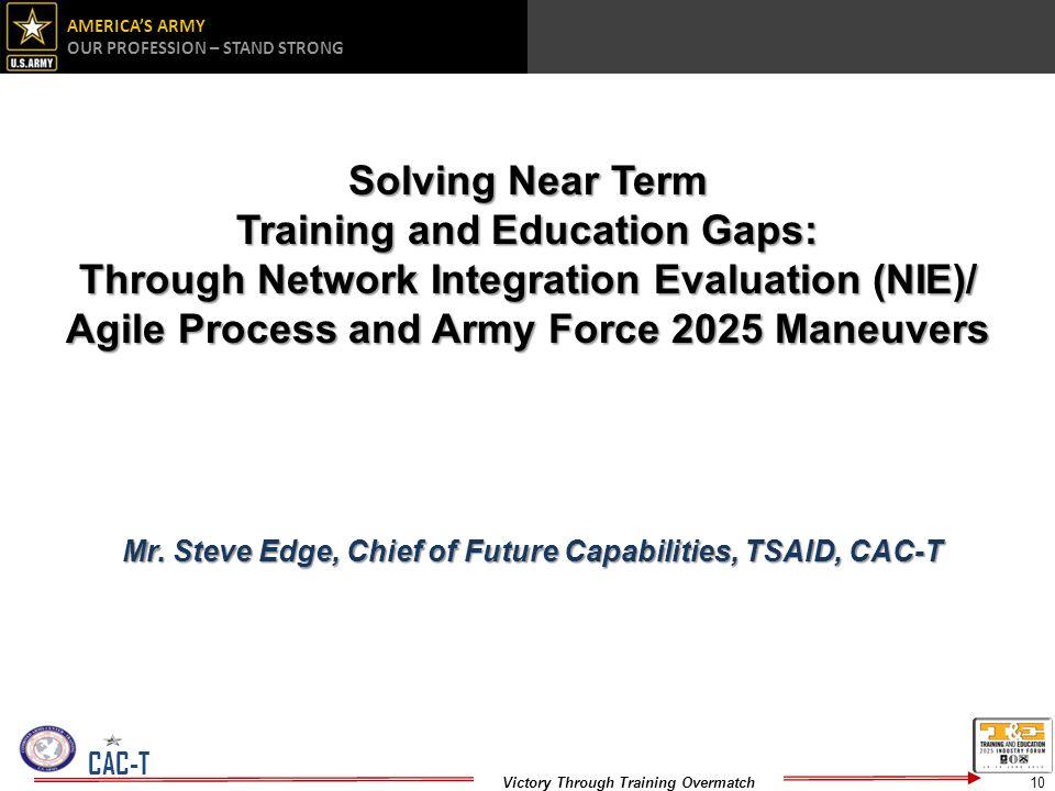 Training and Education Gaps: