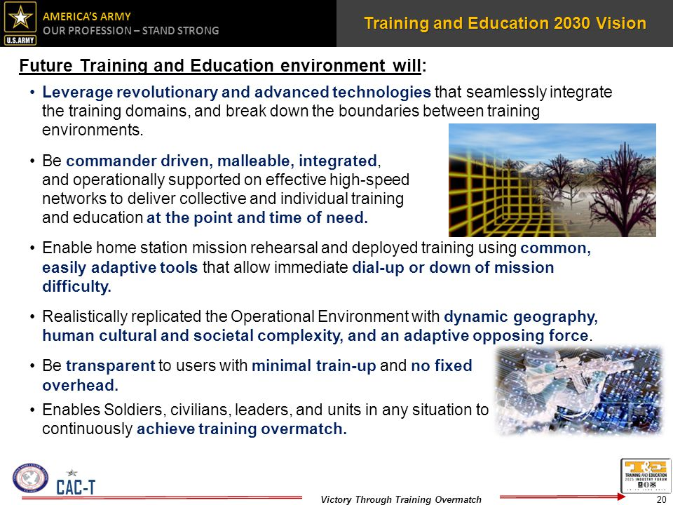 Training and Education 2030 Vision
