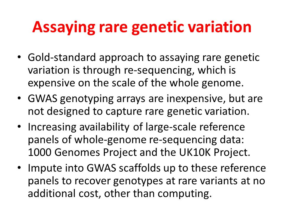 Assaying rare genetic variation